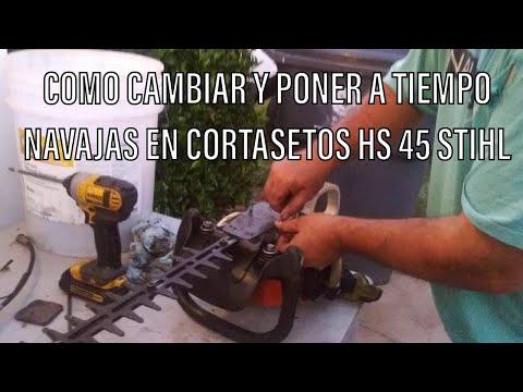RDMJ2.V.532.COMO CAMBIAR Y PONER A TIEMPO NAVAJAS EN CORTASETOS HS 45 STIHL.