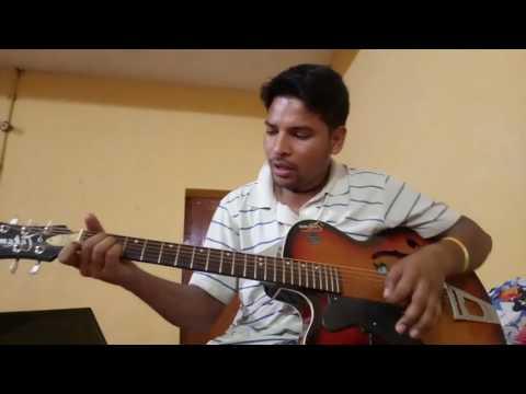 machi pani si jyu teru meru on guitar