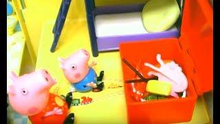 Мультфильм игрушками Свинка Пеппа Свинка Pig Большая корзина для игрушек