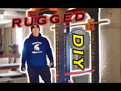 The most RUGGED Homemade/DIY Power Rack on Youtube