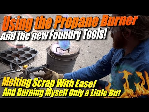 Melting Metal with a Propane Burner Foundry to Make Aluminum Ingots at Home