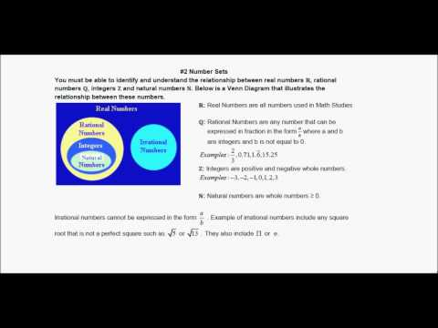 IB Math Studies Topic 1 Revision: Number and Algebra (May 2015)