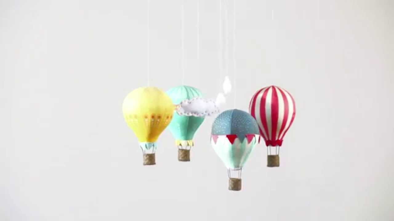 Hot Air Balloon Mobile - sewing pattern by Craft Schmaft - YouTube