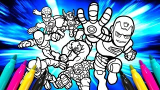 MARVEL Super Hero SQUAD Coloring page | Avengers Cartoon Coloring