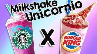Milkshake de Unicórnio: Burger King X Starbucks. Qual é o melhor?