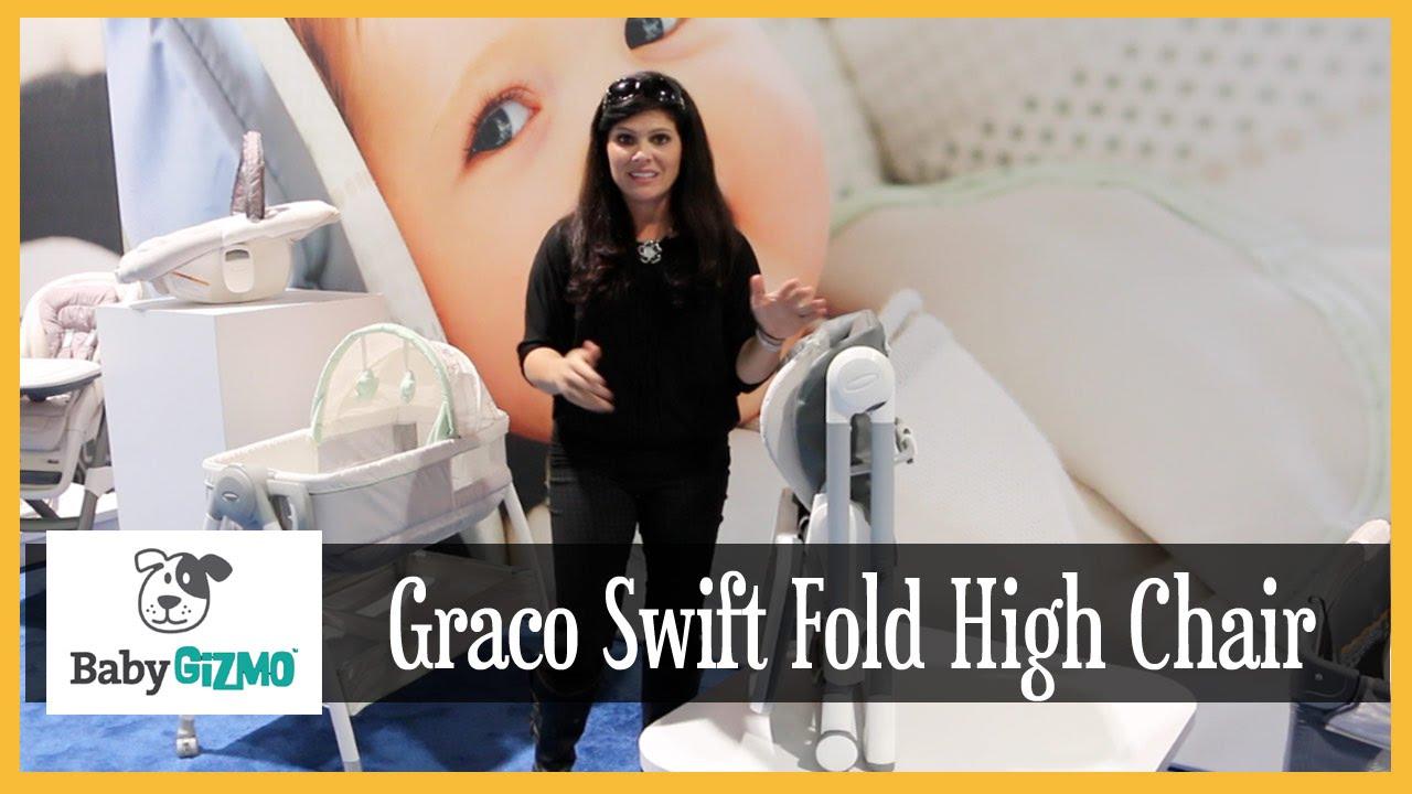 Graco Swift Fold High Chair Sneak Peek By Baby Gizmo Youtube