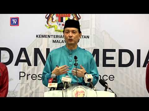 [LIVE] Sidang media Ketua Pengarah Kesihatan berhubung perkembangan terkini di Malaysia