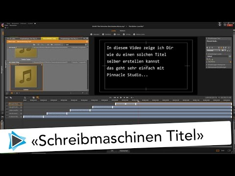Schreibmaschinen Titel in Pinnacle Studio 20 Deutsch Video Tutorial Type Effekt