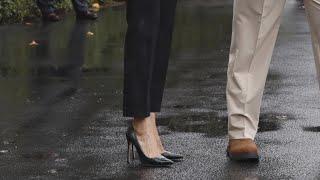 TV Personalities Defend Melania Trump Over Wearing High Heels En Route to Texas