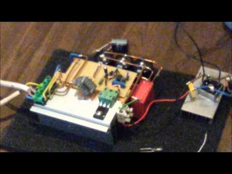 My first Tesla Coil   Single Mosfet ISSTC - YouTube