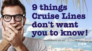 9 Things Cruise Lines Don