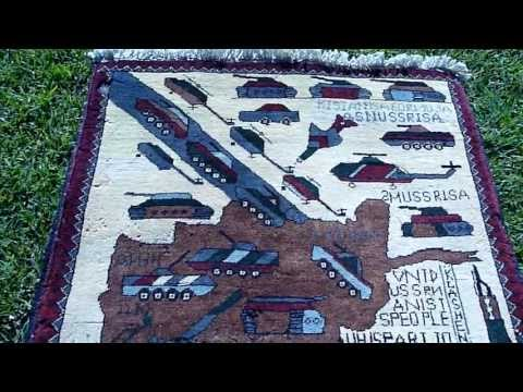 Afghani War Rug - make carpets not war
