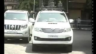 Telangana cm kcr convoy and Smitha Sabharwal