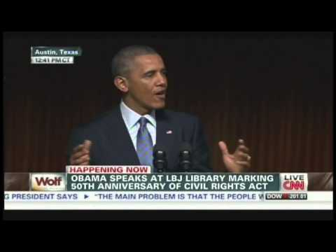 President Obama Civil Rights Summit Speech LBJ Library Austin Texas (April 10, 2014) [3/3]