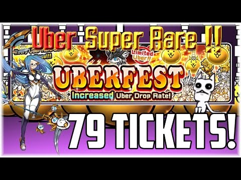 The Battle Cats | 79 Rare Ticket Uberfest + 98 Event Ticket Opening