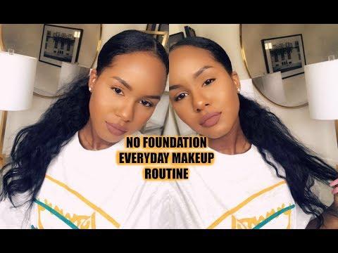 NO FOUNDATION Everyday Makeup Routine thumbnail