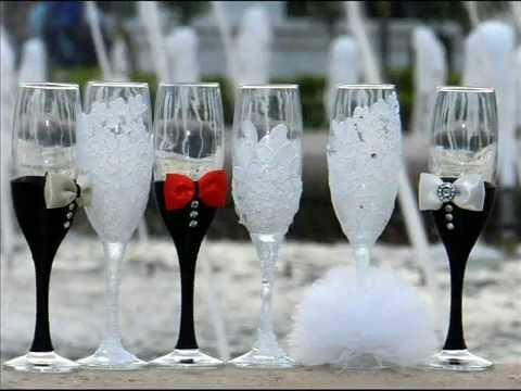 Wedding toasting flutes  YouTube