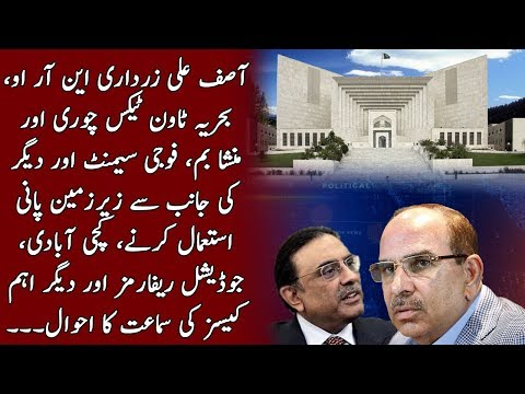 Details of Asif Zardari, Bahria Town and other cases in Supreme Court