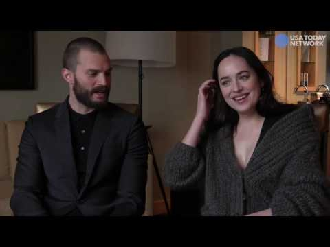 Fifty Shades Darker - Jamie Dornan and Dakota Johnson Interview for USA Today Promoting