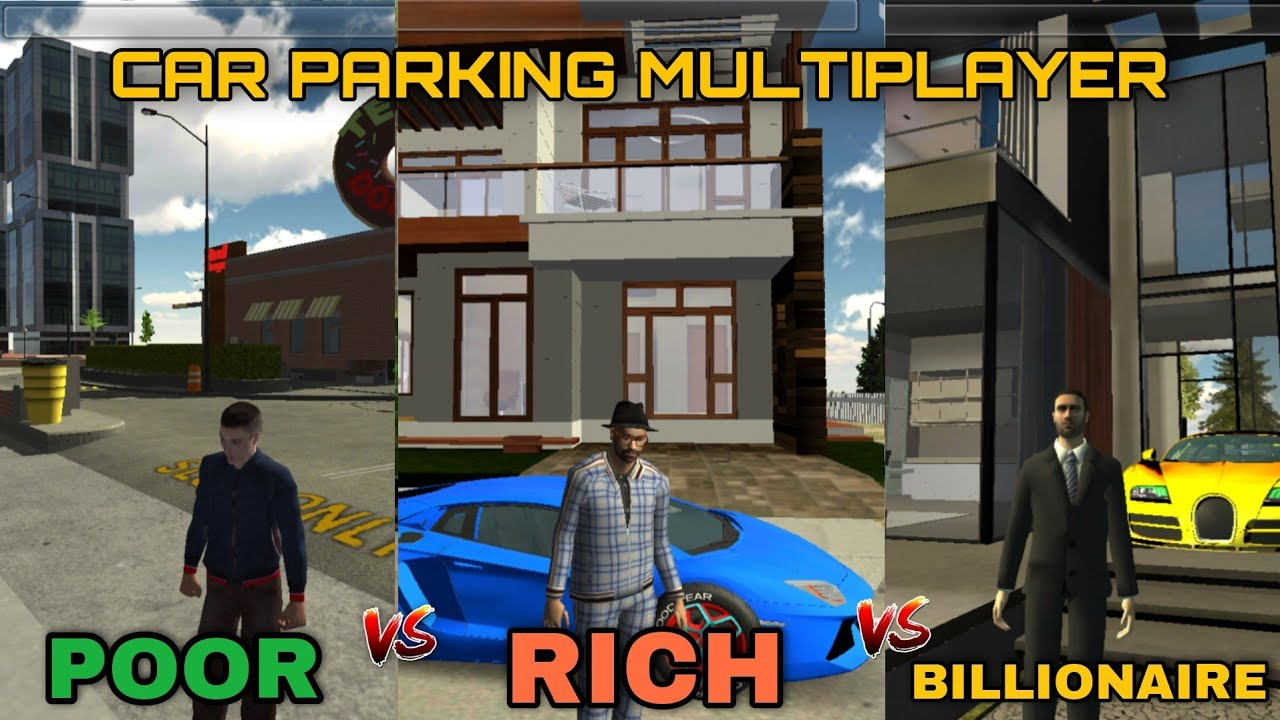 Download 💸poor vs rich vs billionaire 🤣funny moments 🔥car parking multiplayer roleplay