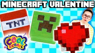 Minecraft Valentine's Day DIY Gifts for Candy! | Arts and Crafts with Crafty Carol