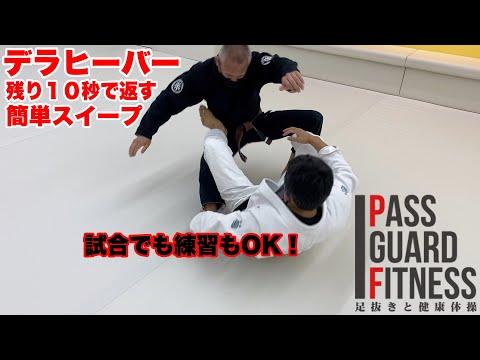 デラヒーバー残り10秒で返す簡単スイープ【柔術】【BJJ】Reverse de la Riva Guard