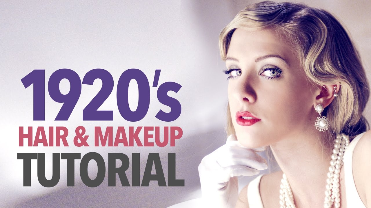 1920s Makeup Hair Tutorial Youtube