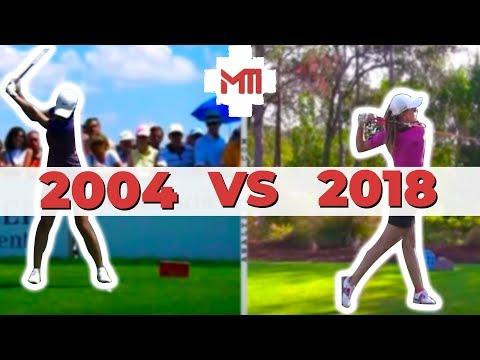 """Michelle Wie Golf Swing Analysis"" 2004 vs 2014"