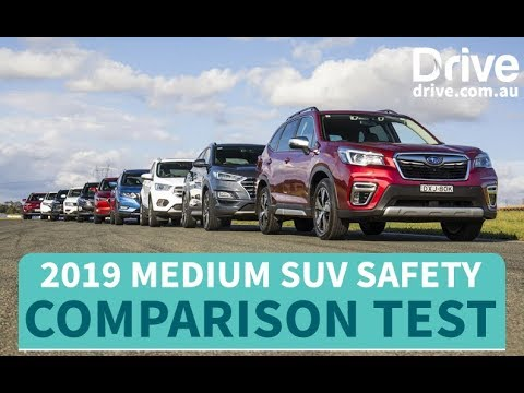 Safest SUV You Can Buy In 2019, Medium SUV Mega Comparison Test | Drive.com.au