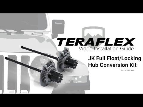 TeraFlex Install: Full Float/Locking Hub Conversion Kit - YouTube
