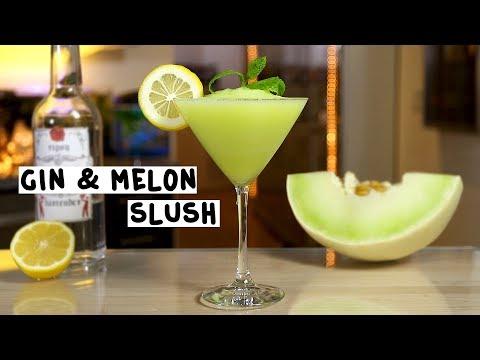Gin & Melon Slush - Tipsy Bartender