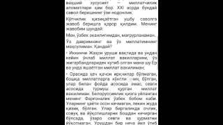 Лола Каримова кай миллатга мансублигини айтди