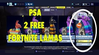 PSA: 2 Free Fortnite Lamas Out Now!!
