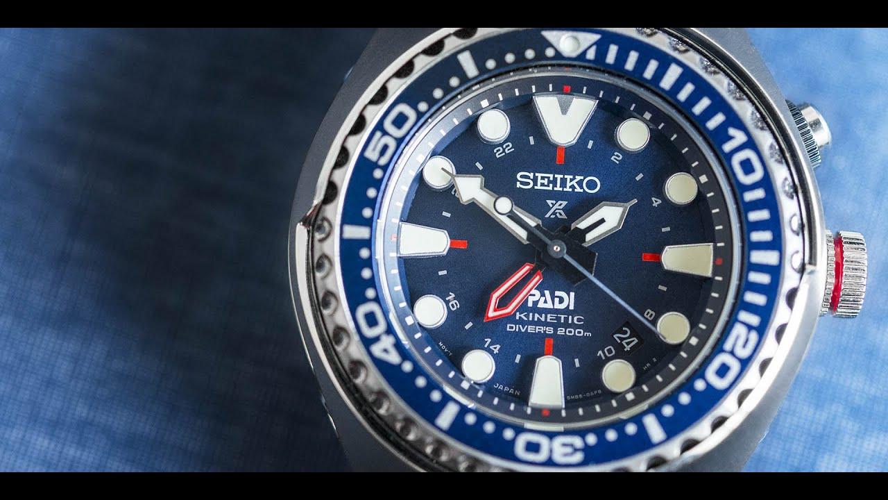 Seiko Prospex Special Edition Padi Sun065 Kinetic Gmt Diver Youtube