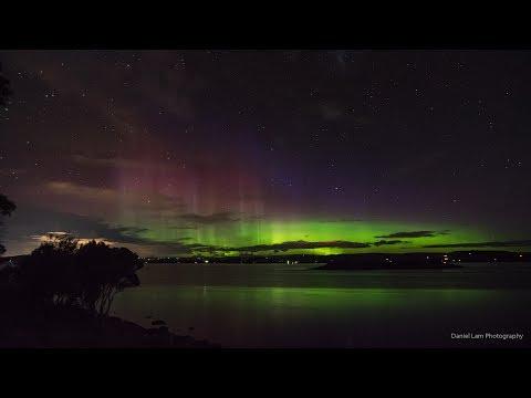 Aurora Australis: Island, 28 May 2017, Tasmania