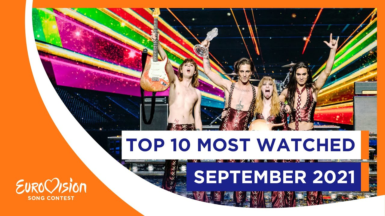 TOP 10: Most watched - September 2021 - Eurovision Song Contest