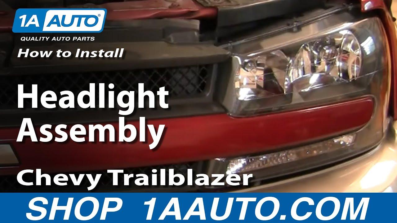 medium resolution of how to replace headlight assembly 02 05 chevy trailblazer