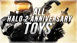 Halo 2 Anniversary: ALL 8 HIDDEN TOYS GUIDE - Toybox Acheivement (The Master Chief Collection)