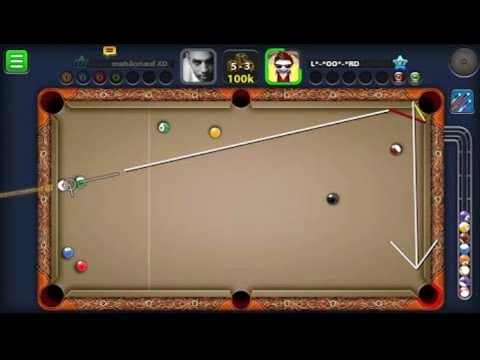 8ball pool M.C with indirect shots with mohannad xD