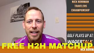 PGA Tour Odds, Picks & Predictions   2021 Travelers Championship Betting Preview   Free H2H Matchup