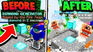 EXPLODING DIAMOND GENERATOR TRAP! (Minecraft Crystal Bed Wars)
