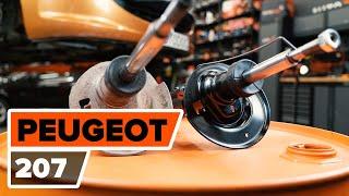 Como substituir coluna de suspensão dianteira noPEUGEOT 207 [TUTORIAL AUTODOC]