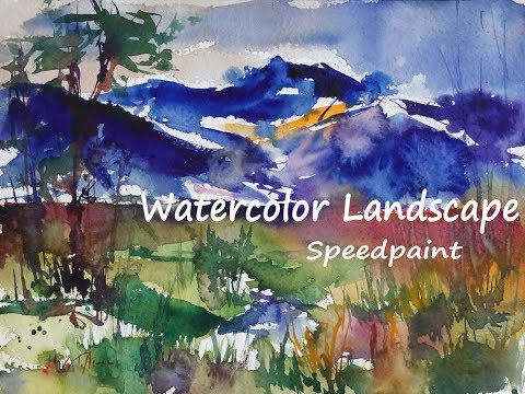 "Watercolor Painting ♦ Landscape Speedpaint ""Rainy Day"""