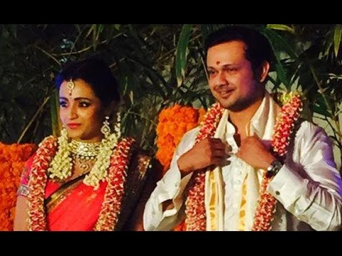 Exclusive Trisha's engagement photos with Varun | full coverage