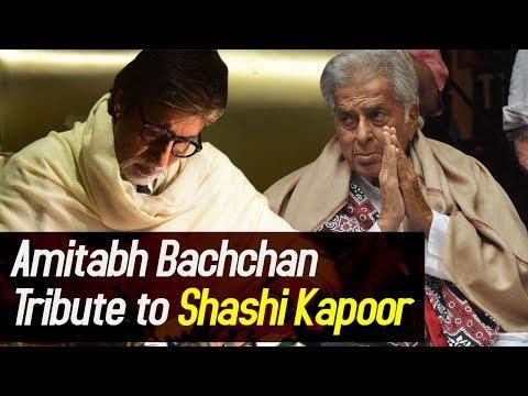 Amitabh Bachchan's heartfelt TRIBUTE to Late Shashi Kapoor