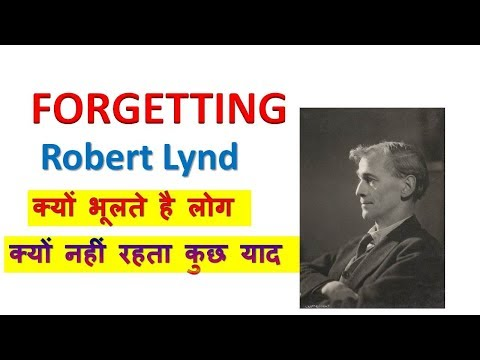Forgetting By Robert Lynd