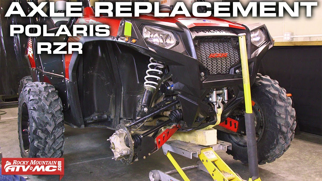 hight resolution of polaris rzr axle replacement