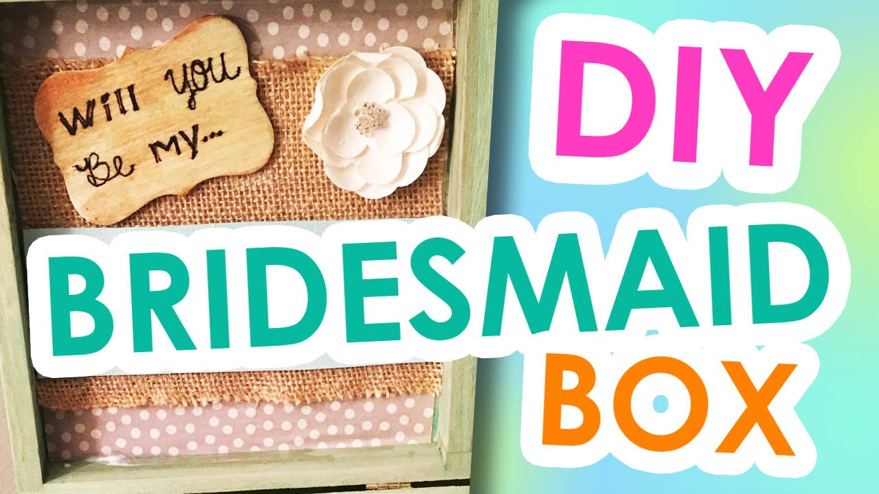 DIY Bridesmaid Invitation Boxes Wedding CraftsGift YouTube