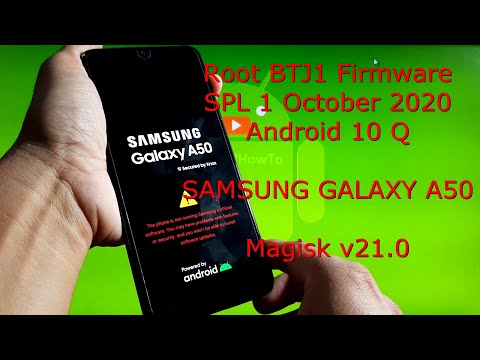 Samsung Galaxy A50: Root BTJ1 Firmware Android 10 Security Patch Level 1 October 2020