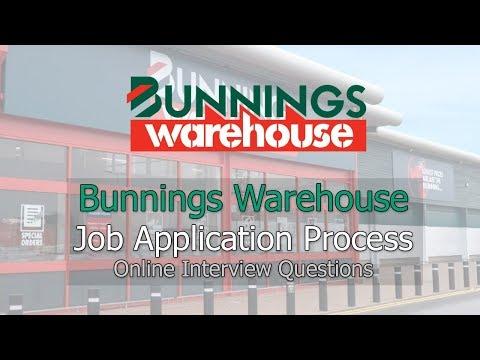 Bunnings Warehouse Job Application Process - Interview Questions 2019